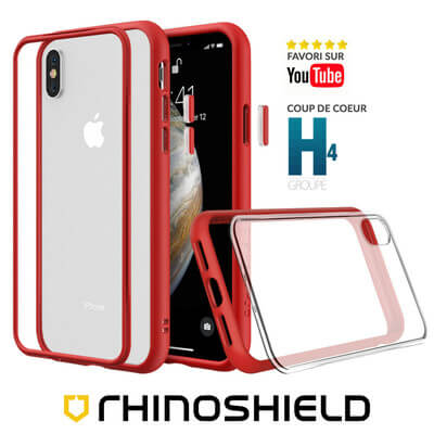 COQUE RHINOSHIELD MODULAIRE ROUGE IPHONE XS MAX