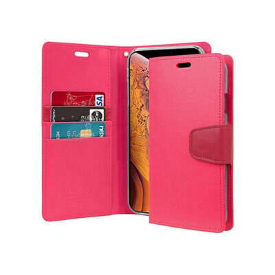 ETUI PORTEFEUILLE ROSE IPHONE 11