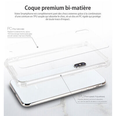 COQUE RENFORCEE TRANSPARENT IPHONE 7