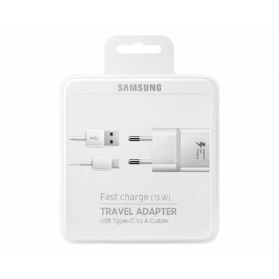 PACK CHARGEUR RAPIDE + CABLE USB-C ORIGINE SAMSUNG BLANC