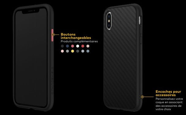 COQUE RHINOSHIELD CLASSIC FIBRE DE CARBONE IPHONE XS