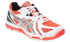 Asics Gel-Volley Elite 3 Womens Wht/Silv/Hot - The Racquet Shop