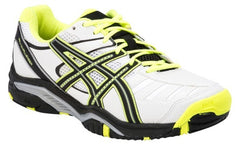 Asics Gel Challenger 9 White/Yellow/Black Mens - The Racquet Shop