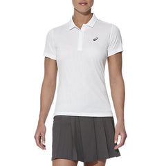 Asics GPX Short Sleeve Polo Real White - The Racquet Shop