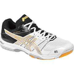 Asics Gel Rocket 7 White Silver Black Mens - The Racquet Shop