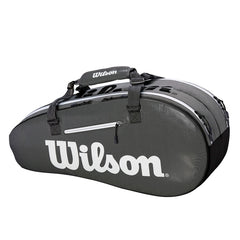 Wilson Super Tour 2 Comp Small 6PK Tennis Bag Blk/Grey