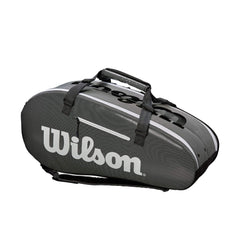 Wilson Super Tour 2 Comp Large 9PK Tennis Bag Blk/Grey