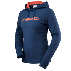 HEAD Ladies Transition Rosie Hoody Navy/Coral - The Racquet Shop