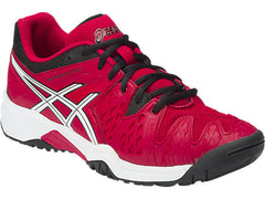 Asics Gel-Resolution 6 GS Jr Red/Bla/Whi - The Racquet Shop
