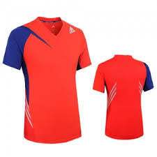 Adidas G92705 Red/Royal Tee - The Racquet Shop