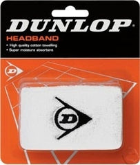 Dunlop Headband White - The Racquet Shop
