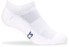 Asics Pace Low Sock Solid White - The Racquet Shop
