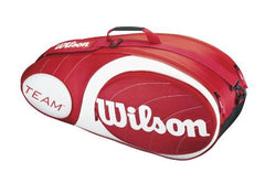 Wilson Team 6 Pack Red - The Racquet Shop