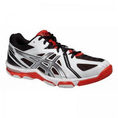 Asics Gel-Volley Elite 3 Mens Wht/Silv/Fiy Mens - The Racquet Shop