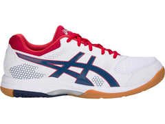 Asics Men Gel-Rocket 8 White/Deep Ocean - The Racquet Shop