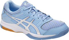 Asics Womens GEL Rocket 8 Airy Blue Silver White - The Racquet Shop