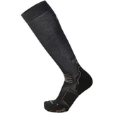 Mico Long Running Sock Black Grey - The Racquet Shop
