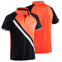Salming Performance Polo Black Red - The Racquet Shop