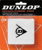 Dunlop Wristband Twin Pack White - The Racquet Shop