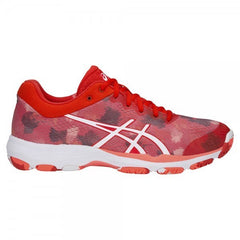 Asics Netburner Professional FF Womens Fiery Red/White - The Racquet Shop