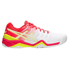 Asics Gel Resolution 7 Womens White Laser Pink