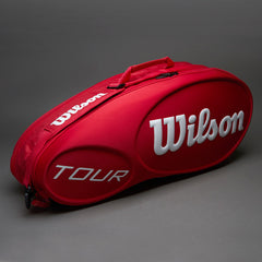 Wilson Tour Molded 6PK Bag Red - The Racquet Shop