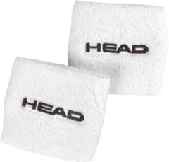 Head 2.5' Wrist Band Pair White - The Racquet Shop