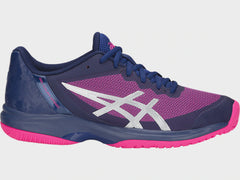 Asics Gel-Court Speed Clay Womens Blue Print Pink Glo - The Racquet Shop