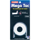 Tourna Mega Tac White Over Grip 3 pack - The Racquet Shop