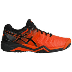 Asics Gel-Resolution 7 Mens (Hardcourt Outsole) Cherry Tomato/Black - The Racquet Shop