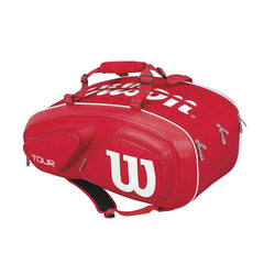 Wilson Tour V 15PK Bag - Red - The Racquet Shop
