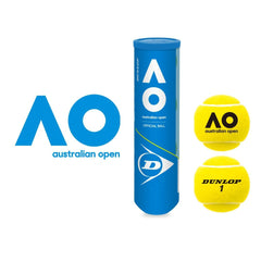 Dunlop Australian Open Hardcourt Official Ball (4 Ball Can) - The Racquet Shop