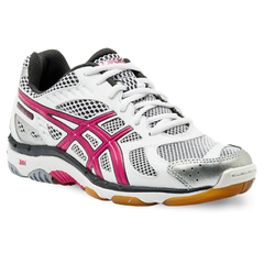 Asics Gel-Beyond 3 (Womens) Wht/Pink/Silver - The Racquet Shop
