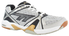 Hi-Tec Indoor Lite Silver White Black Mens - The Racquet Shop