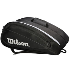 Wilson Federer Team 12 Pk Tennis Bag Black White