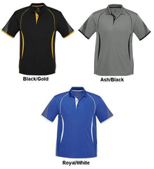 Biz Collection Polo Ash/Black - The Racquet Shop