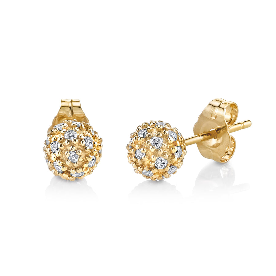 Gold & Diamond Large Ball Studs