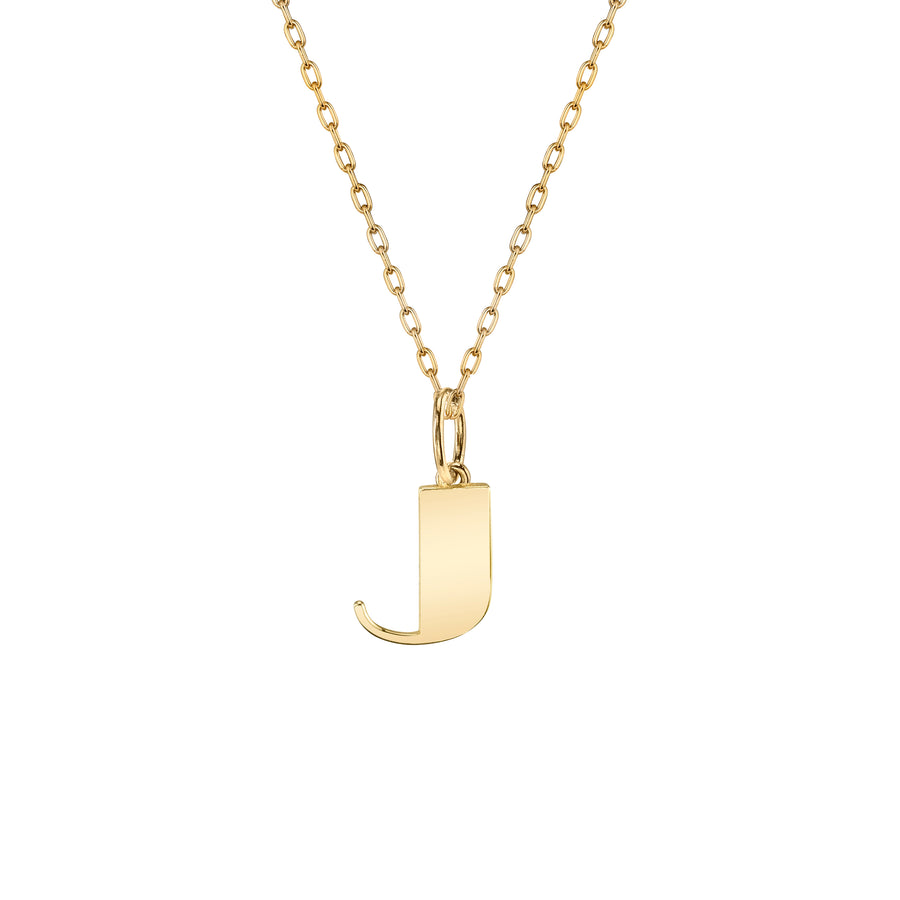 Pure Gold Small Initial Necklace