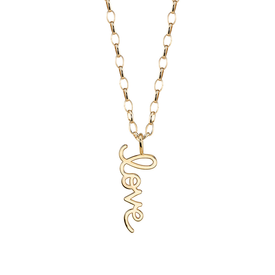 Yellow Gold Large Pure Love Charm Necklace