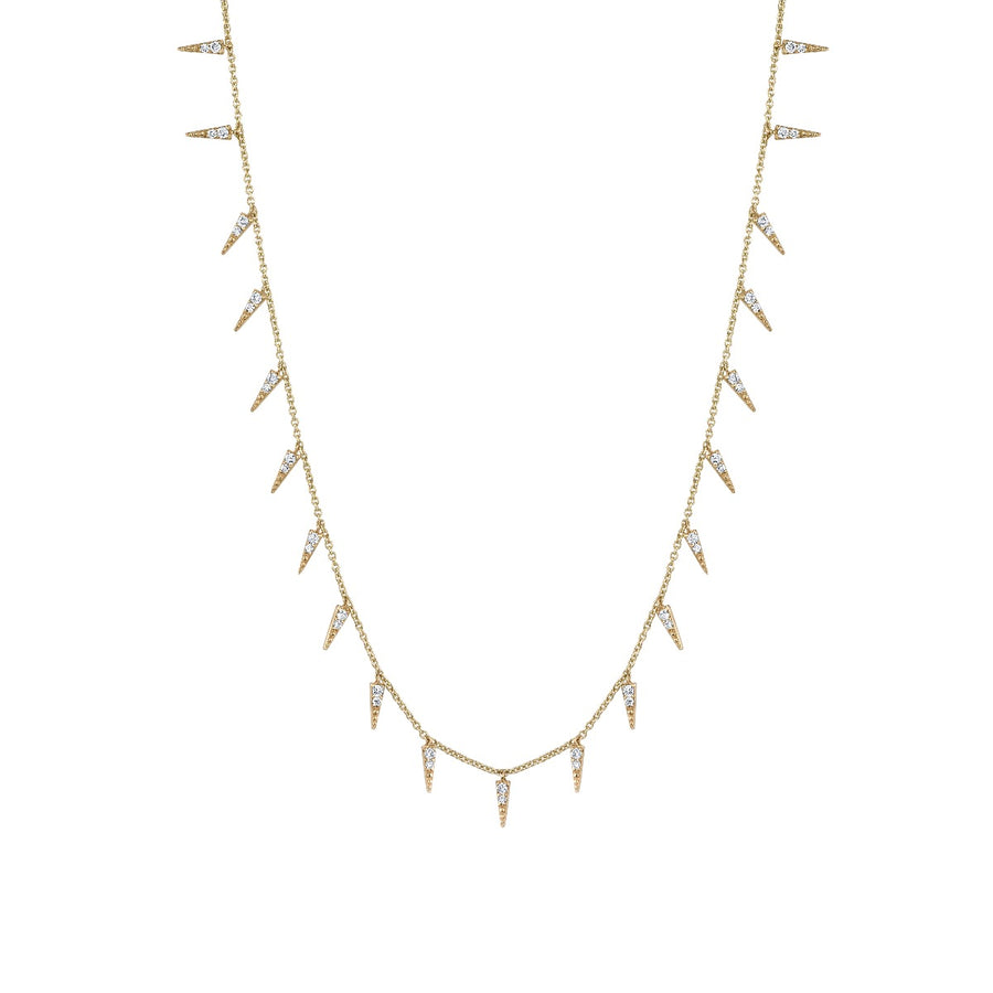 Yellow Gold & Diamond Large Fringe Necklace
