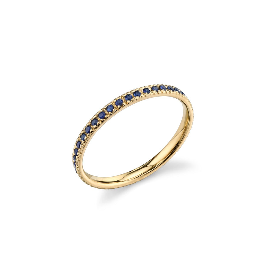 Yellow-Gold & Blue Sapphire Eternity Band
