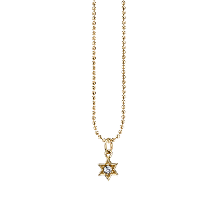 Gold & Diamond Star of David Necklace