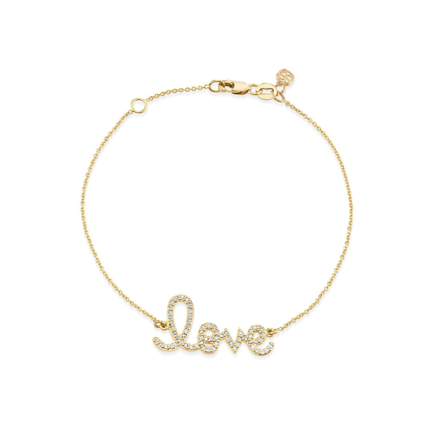 Medium Gold & Diamond Love Bracelet