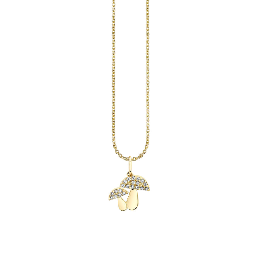 Gold & Diamond Mushroom Necklace
