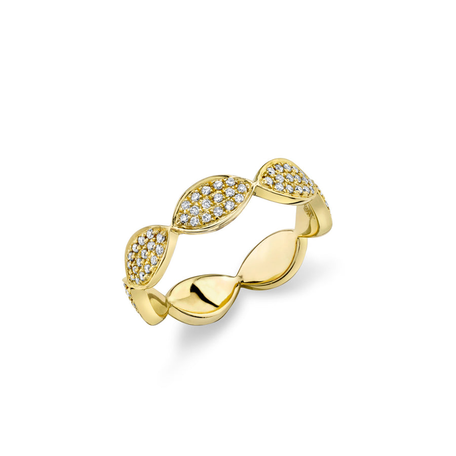 Gold & Pavé Diamond Marquis Eternity Band