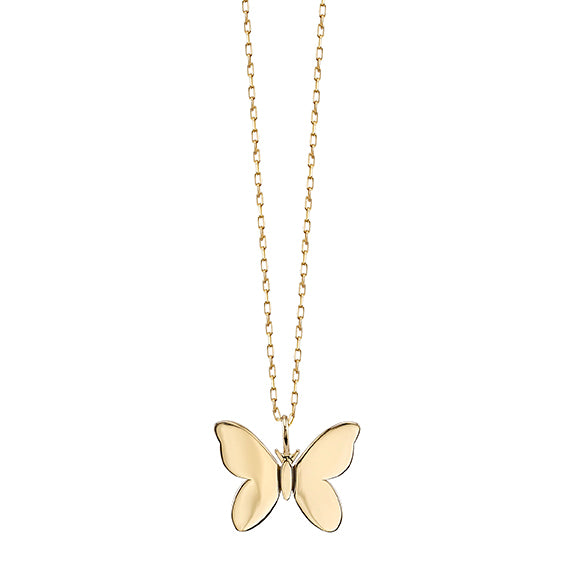 Pure Gold Small Butterfly Necklace