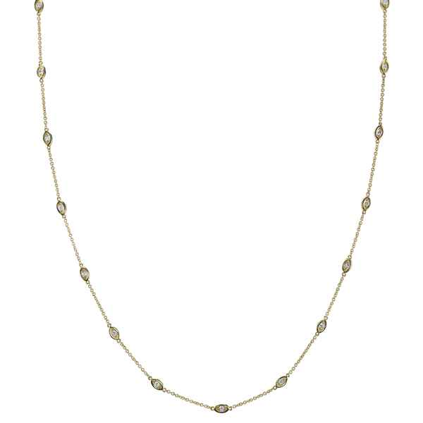Gold & Diamond Marquis Segment Necklace