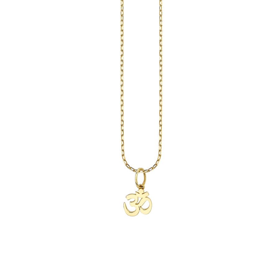 Pure Gold Tiny Om Charm Necklace