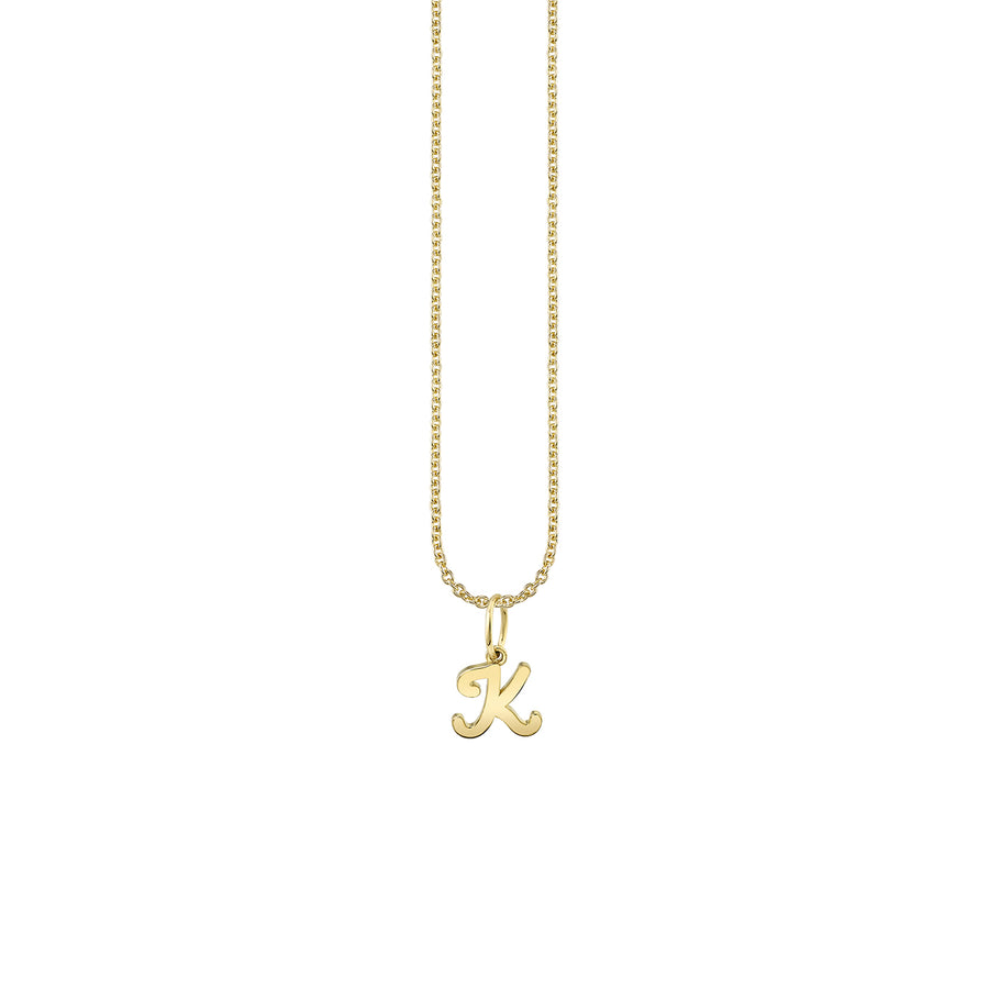 Pure Gold Tiny Initial Necklace