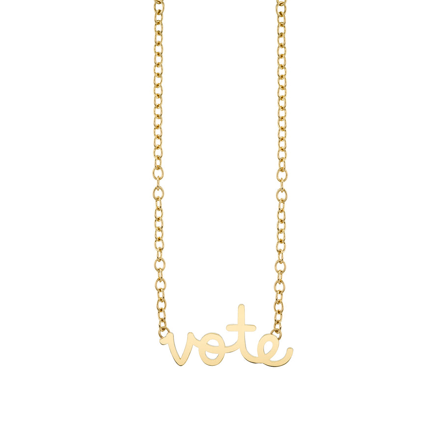 Pure Gold Large Vote Necklace